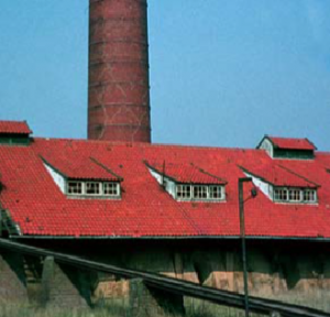 De steenfabriek nog in zijn oorspronkelijke staat