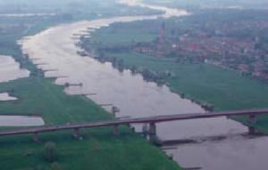 De Neder-Rijn met uiterwaarden.