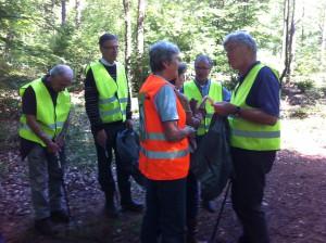 Het ZAPP team met coördinator Wil Schulte.