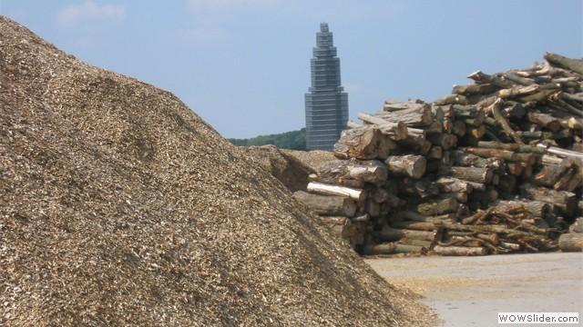 Middelwaard bv - opslag van boomstammen en houtsnippers