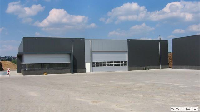 Middelwaard bv - vooraanzicht van de nieuwe fabrieksloodsen